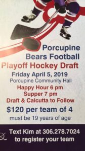 HOCKEY DRAFT @ Porcupine Community Hall | Porcupine Plain | Saskatchewan | Canada