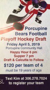 HOCKEY DRAFT @ Porcupine Community Hall | Porcupine Plain | Saskatchewan | Canada