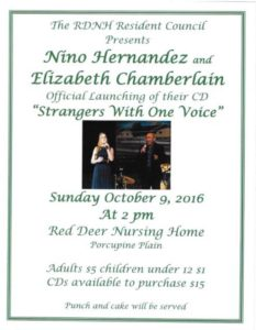 Concert @ Red Deer Nursing Home Activity Room