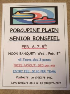 Senior Bonspiel @ Porcupine Curling Club