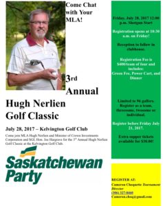 3rd Annual Hugh Nerlien Golf Classic @ Kelvington Golf Club
