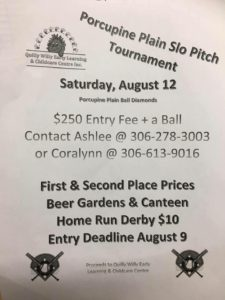Slo Pitch Tournament @ Porcupine Place