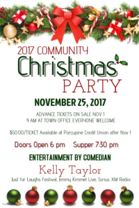Community Christmas Party @ Porcupine Community Hall