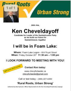 MLA Ken Chevelydayoff @ Kelvington-Wadenda Constituency