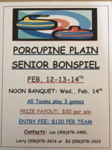 Seniors Bonspiel @ Porcupine Curling Club
