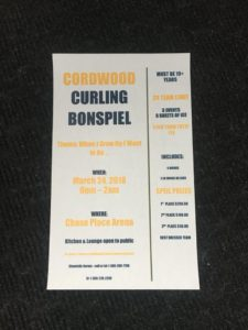 Cordwood Curling Bonspiel @ Chase Place  Arena