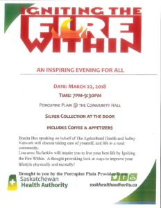Igniting The Fire @ Porcupine Plain Community Hall