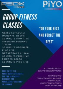 P90X Live: Strengening + PiYo Live: Beginner CLASSES @ Porcupine Plain Composite School