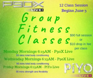P90X Live Class @ Dance Room @ Quilly's Community Place