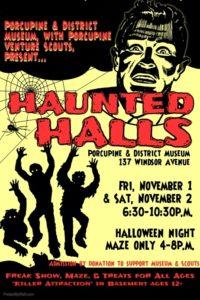 Haunted Halls @ Porcupine & District Museum
