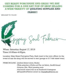 Gypsy Soul Fabrics - Pop-Up Shop
