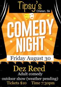 Tipsy's Presents: Dez Reed, Comedy Show @ Tipsy's