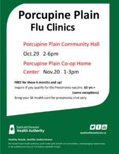 Porcupine Plain Flu Clinic