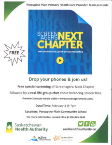 Screenagers: Next Chapter - Uncovering Skills for Stress Resilience @ Porcupine Plain Community School