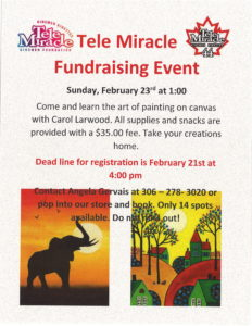 TeleMiracle Fundraising Painting Event @ Bits n Pieces Store