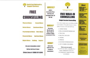 NEOSS *FREE* Counselling @ Quilly's Community Place