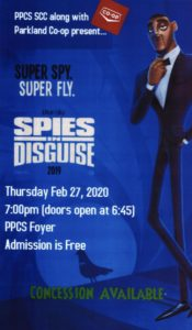 """PPCS SCC Movie Night - """"Spies in Disguise"""" @ PPCS - School Foyer"""