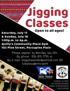 Metis Jigging Class @ Quilly's Community Place