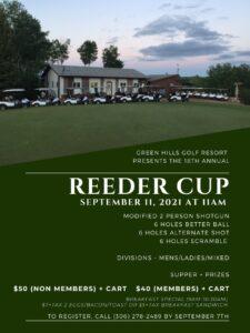 18th Annual Reeder Cup Golf Tournament @ Green Hills Golf Resort